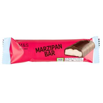 MARKS & SPENCER Batonik marcepnowy w gorzkiej czekoladzie 36g