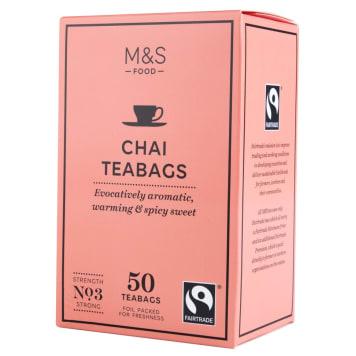 MARKS & SPENCER Herbata Chai, 50 torebek 125g
