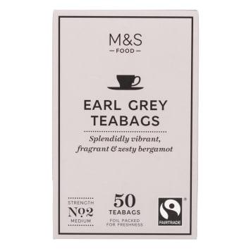 MARKS & SPENCER Herbata Earl Grey, 50 torebek 125g
