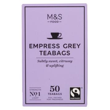 MARKS & SPENCER Herbata Earl Grey cytrynowa, 50 torebek 125g