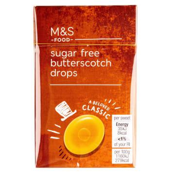 MARKS & SPENCER Dropsy śmietankowo-maślane bez cukru 42g
