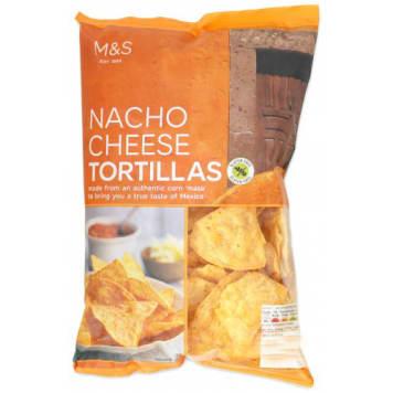 MARKS & SPENCER Chipsy kukurydziane o smaku serowym 175g