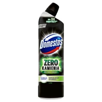Żel do toalet - Domestos. Usuwa kamień, dezynfekuje pozostawiając przyjemny zapach.