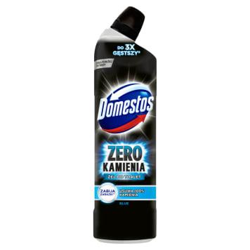 Żel do toalet Zero Kamienia - Domestos to niebieski środek do czyszczenia powierzchni sanitarnych.