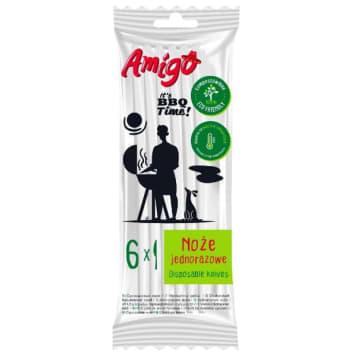 AMIGO Jednorazowe noże Eco Friendly 6 szt. 1szt