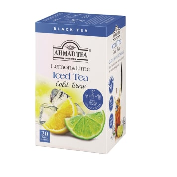 AHMAD TEA Herbata na zimno o smaku limonki i cytryny 20 torebek 40g