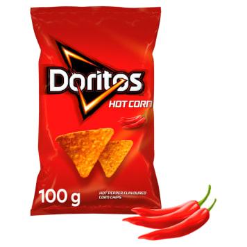 DORITOS Hot Corn Chipsy kukurydziane o smaku ostrej papryki 100g