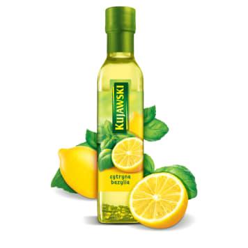 KUJAWSKI Ze smakiem Olej rzepakowy z cytryną i bazylią   250ml
