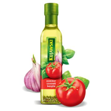 Olej rzepakowy z pomidorami, czosnkiem i bazylią - Kujawski