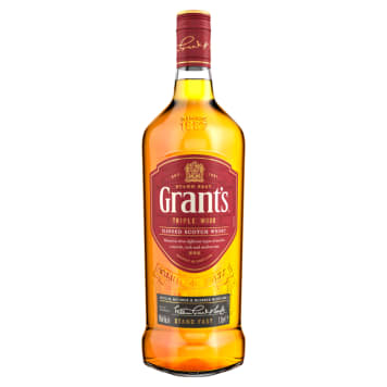 Szkocka whisky Grants to numer 1 na świecie. Produkowana jest od lat według tradycyjnej receptury.