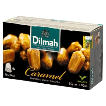 Herbata karmelowa - Dilmah. Czarna herbata cejlońska o aromacie karmelu i angielskiego tofee.