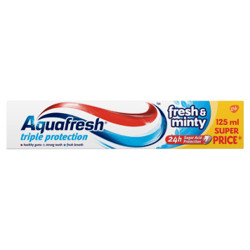 AQUAFRESH 3 Triple Protection Pasta do zębów Fresh&Minty 125 ml