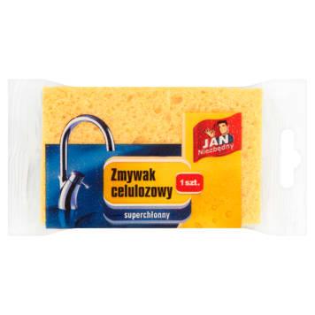 Zmywak celulozowy - Jan Niezbędny. Przyjemne mycie, czyste i lśniące naczynia.