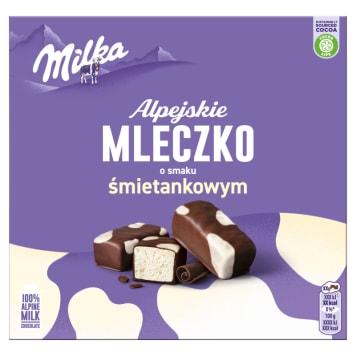 MILKA Alpejskie Mleczko Happy Cows Pianka o smaku śmietankowym 330g