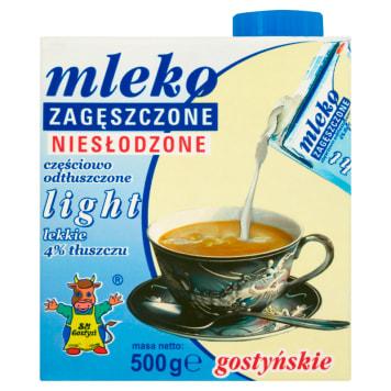 Mleko zagęszczone niesłodzone, 4% light - SM Gostyń. Ma niski procent tłuszczu.