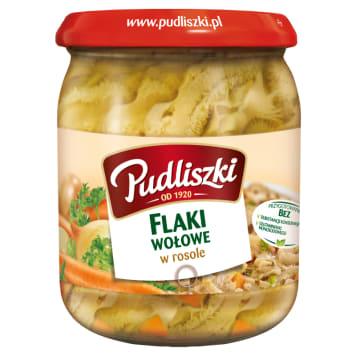 Flaki wołowe w rosole – Pudliszki to gotowe danie, które wystarczy podgrzać, by jeść.