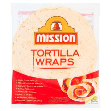 MISSION Wraps Tortilla pszenna 4szt 250g