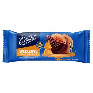 Wedel – Biszkopty z galaretką pomarańczową w czekoladzie to pyszna, słodka przekąska
