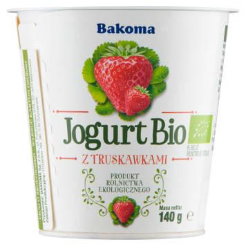 Jogurt naturalny o smaku świeżych truskawek - Bakoma