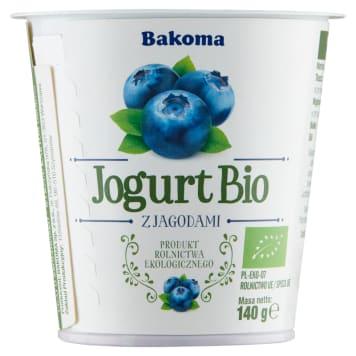 Jogurt BIO Jagoda - naturalne składniki, dodające energii - Bakoma