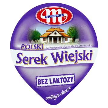 MLEKOVITA Bez laktozy Serek wiejski bez laktozy 180g