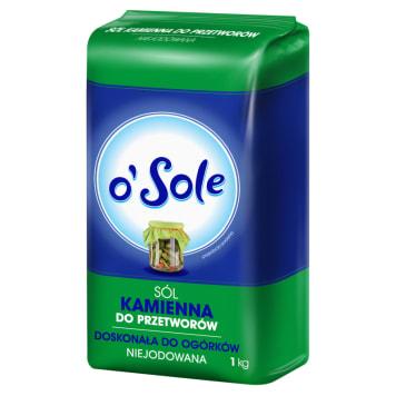 Sól kamienna bez jodu do przetworów - O Sole. Doskonała do konserwowania.
