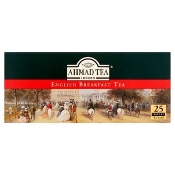 Herbata czarna English Breakfast, 25 szt. - Ahmad Tea. Aromatyczna i mocna herbata śniadaniowa.