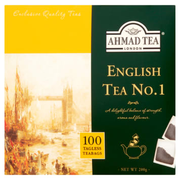 Herbata czarna English Tea No. 1 - Ahmad Tea. Pełna aromatu herbata, numer jeden wśród koneserów.