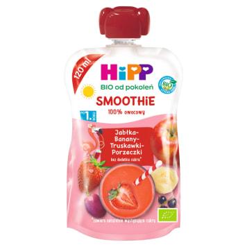 HIPP HiPPiS Jabłka-Banany-Truskawki-Porzeczki Mus z owoców i soków Bio po 1. roku 1szt