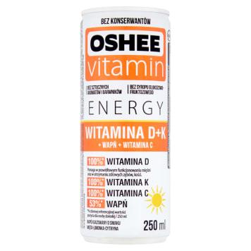 OSHEE Vitamin Energy Napój z Wit.C.+Wit.D+Wapń 250ml. Energy drink o smaku mohito.