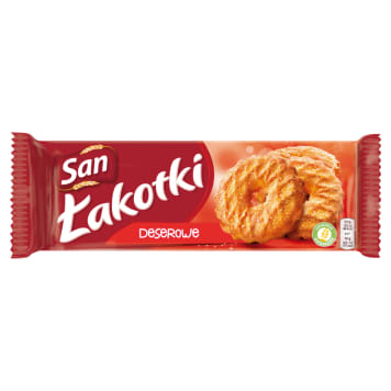 SAN Łakotki Ciasteczka deserowe z cukrem 168g