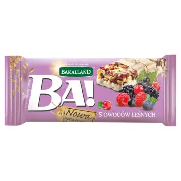 Baton zbożowy 5 owoców leśnych 40g - Bakalland Ba!