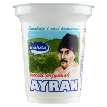 Napój turecki na bazie mleka - Maluta Ayran. Jest przystosowany do bezpośrednio spożycia.