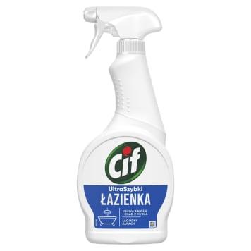 Płyn do czyszczenia łazienki spray - Cif pozwala szybko i skutecznie pozbyć się brudu.