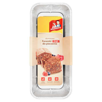 JAN NIEZBĘDNY Foremka aluminiowa do pieczenia - keks, pasztet 3 szt. 1szt