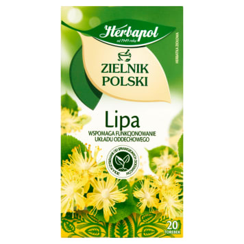Herbapol - Zielnik Polski Lipa 20 torebek. Herbata z polskich ziół.