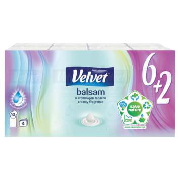 VELVET Balsam Chusteczki higieniczne  o kremowym zapachu 9x8 szt. 1szt
