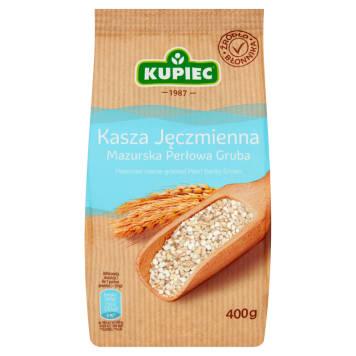 Kupiec – Perłowa mazurska gruba kasza jęczmienna to doskonały dodatek do mięs i sosów.