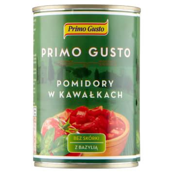 PRIMO GUSTO Pomidory w kawałkach z bazylią 400g