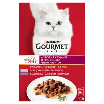 GOURMET mon Petit Pokarm dla kotów - MIX Mięsny 300g