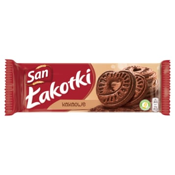 SAN Łakotki Ciasteczka kakaowe 168g