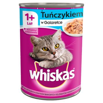 WHISKAS 1+ Pokarm dla Kotów z Tuńczykiem w Sosie - Puszka 400g
