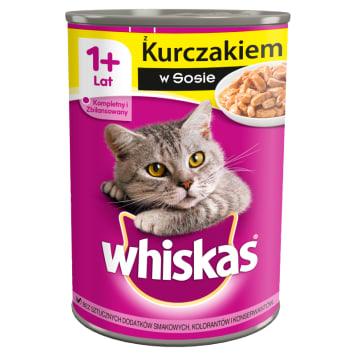 WHISKAS 1+ Pokarm dla Kotów z Kurczakiem w Sosie - Puszka 400g