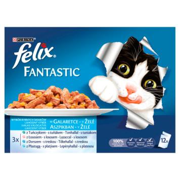 FELIX® Fantastic Karma dla kotów - Uczta oceanu w galaretce 12x100g 1.2kg
