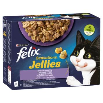 FELIX® Sensations Karma dla kotów z jagnięciną, makrelą, śledziem i indyk. 12x100g 1.2kg