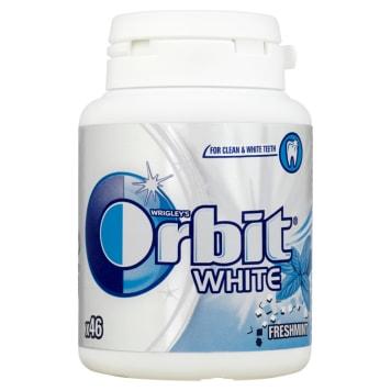 Bezcukrowa, miętowa guma do żucia w drażetkach - Orbit White Fresh to partner w walce o zdrowe zęby.