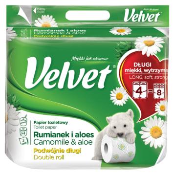 Papier toaletowy - Velvet. Trwały i wydajny. Niezbędny elemnt w każdej łazience.