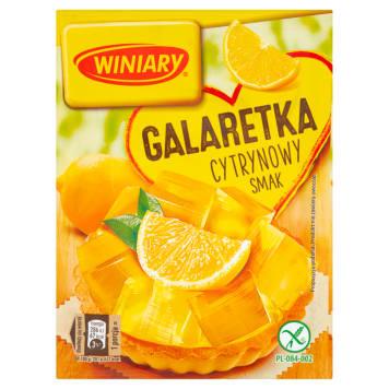 Winiary - Galaretka o smaku cytrynowym. Intensywny smak i aromat, wysoka jakość.