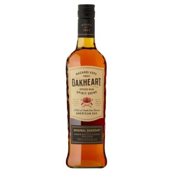 Rum - Bakardi Oakheart. Przywodzi na myśl starą destylarnię wypełnioną opalonymi beczkami.