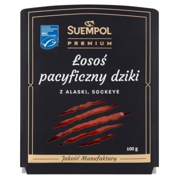 SUEMPOL Premium Łosoś z Alaski wędzony plasterkowany 100g